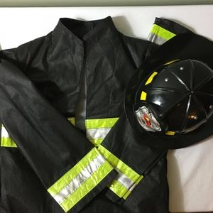 Other - HALLOWEEN One-Piece Fireman costume plus FREE Hat